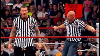 Stone Cold Steve Austin Stunner Randy Orton at WWE Cyber Sunday 2008