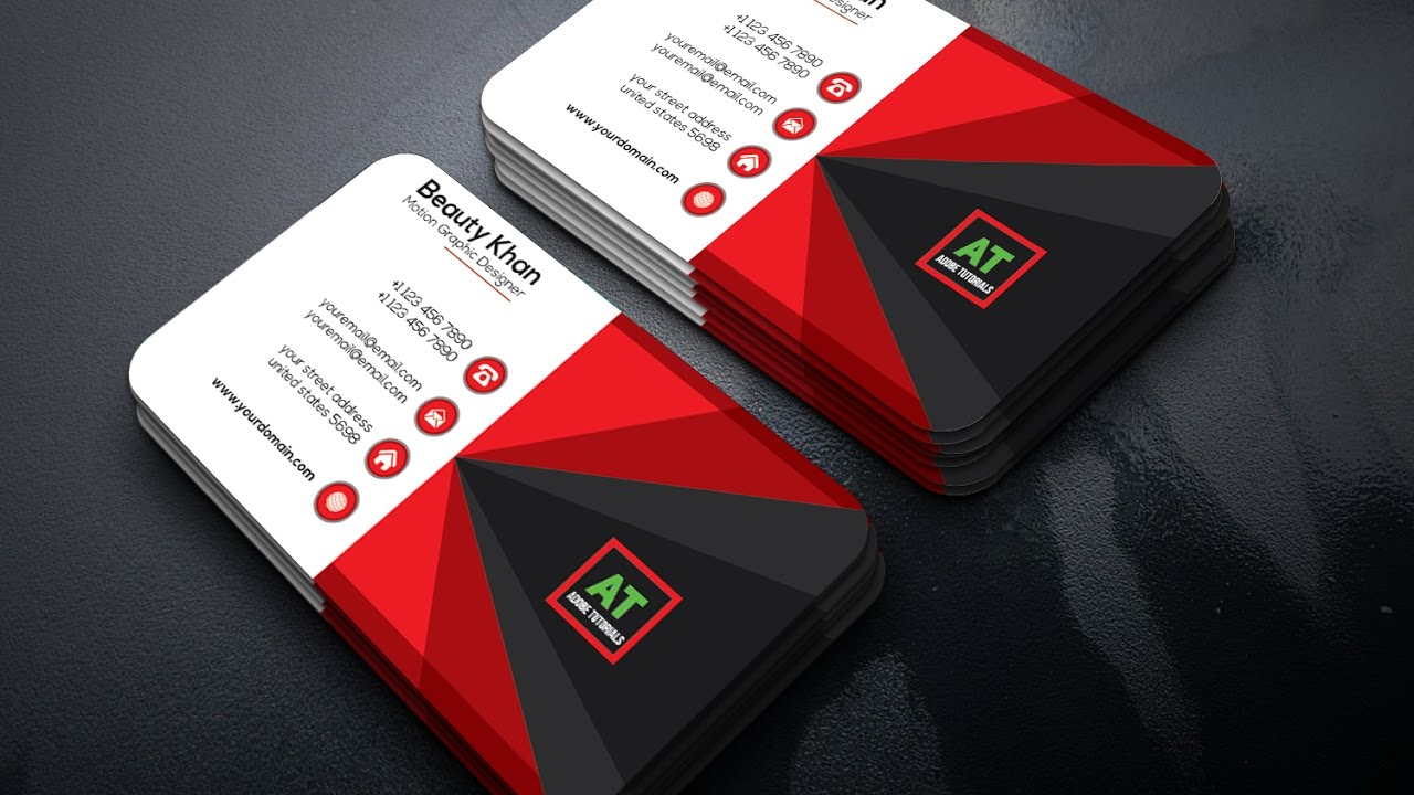 Red business card choice image business card template word red theme graphic business card adobe illustrator tutorial colourmoves