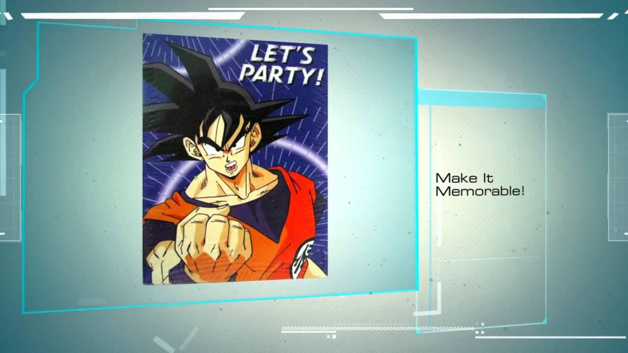 Dragon Ball Z Birthday Party Supplies Youtube