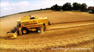 Grain Harvest Germany 2014 New Holland TX66 Combine DJI Phantom 2