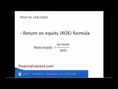 What is return on equity ratio?