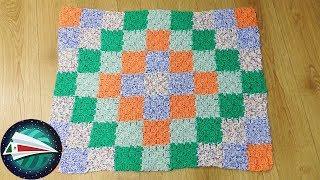 Tejiendo una manta para bebé   Haz tu propia manta en patchwork   Manta tejida C2C con dibujo