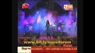 """Shreya Ghoshal singing """"Tujh mein rab dikhta hai"""" at US tour"""
