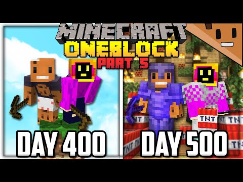 We Spent 500 Days in ONE BLOCK Minecraft... Here's What Happened (ft. NotPaulGG) - aCookieGod