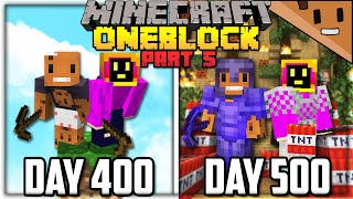 We Spent 500 Days in ONE BLOCK Minecraft FINALE... Here's What Happened (ft. NotPaulGG)