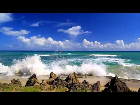 Футаж. Море. Берег. Волны.