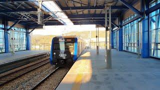 [4K 60fps] 부산 동해선 광역전철 부전행 열차 오시리아역 진입 (경적 포함) Busan Subway Donghae Line Train in OSIRIA Station