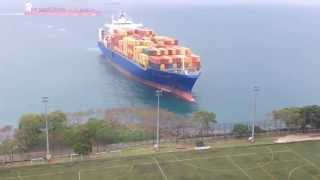 Container ship  accident hong kong