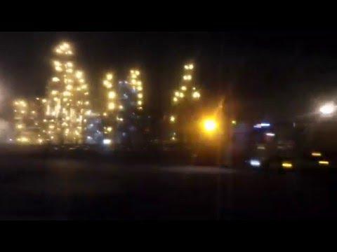 Новошахтинск   нефтебаза ночная иллюминация