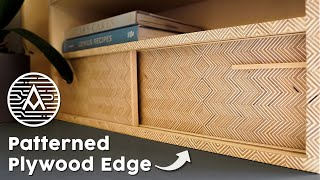 Bookcase with Edge-Grain Patterned Plywood