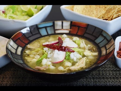 Green Pozole Mexican Food Recipe
