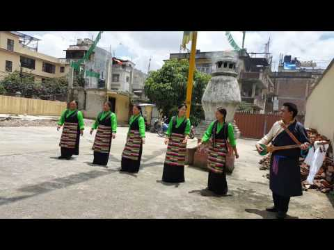 Tibetan dance for dalai lama birthday 81 year