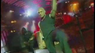 Repeat youtube video Disturbed - Indestructible - Live (On Kimmel 2009)