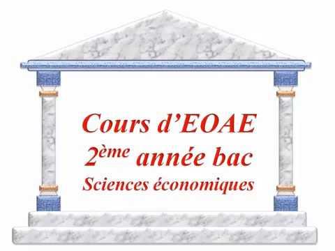 EOAE 2 BAC   chapitre 1 Notion de stratégie