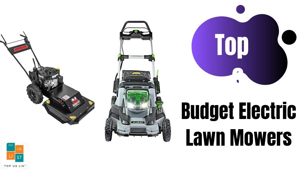 Best Electric Lawn Mower 2020.6 Best Selling Budget Electric Lawn Mowers 2020 List Reviews