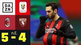 Calhanoglu bleibt cool: AC Mailand - FC Turin 5:4 n. E. | Coppa Italia | DAZN Highlights