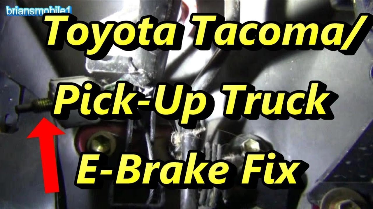 Parking Brake Cable >> Toyota Tacoma Pick Up E brake Fix - YouTube