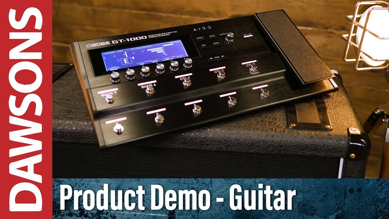 boss gt 1000 guitar effects processor review youtube. Black Bedroom Furniture Sets. Home Design Ideas