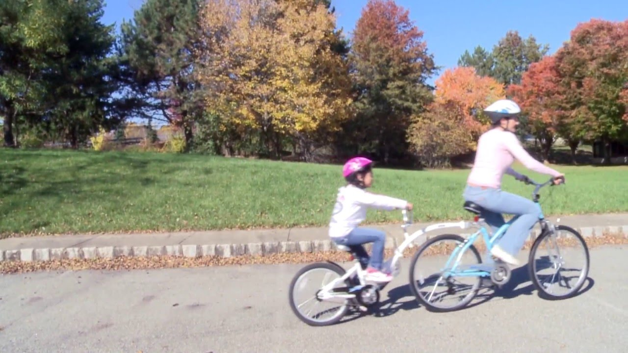 19075ad8417 WeeRide Best and Safe Child Bike Seat Tagalong and Balance Bike.mov -  YouTube