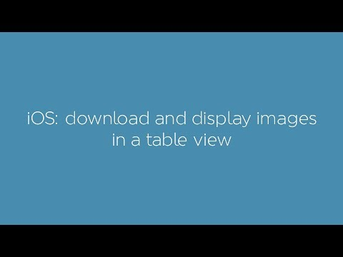 Download and display images in a table view with custom cell with swift 3