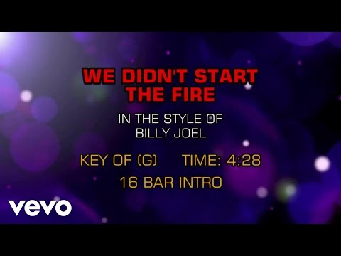 Billy Joel - We Didn't Start The Fire (Karaoke)