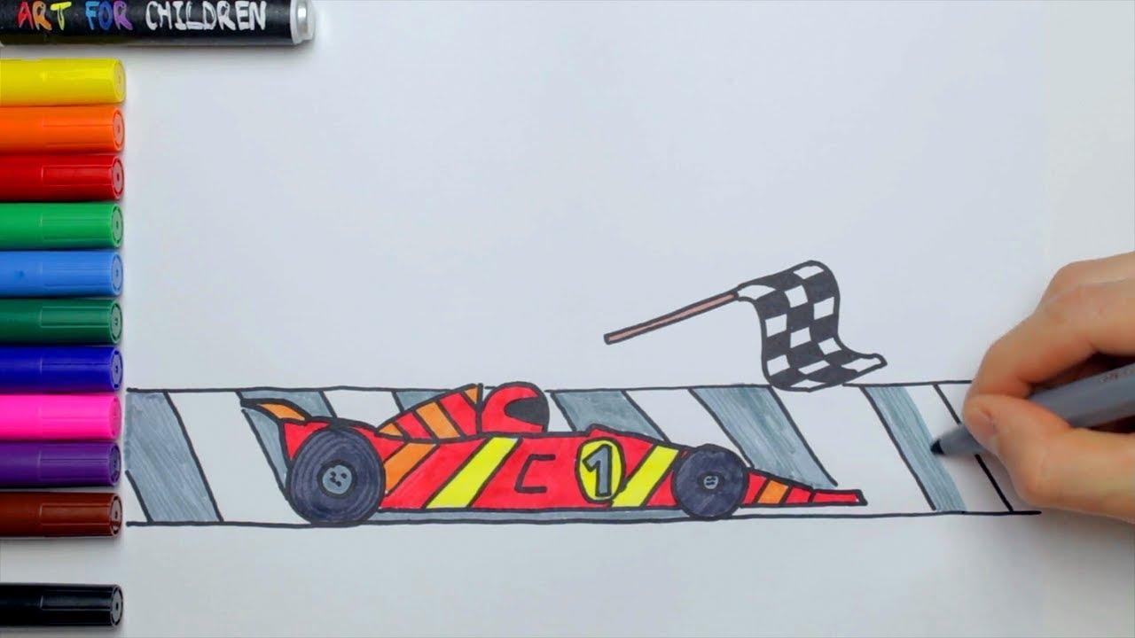 Comment dessiner une voiture de course pour les enfants ...