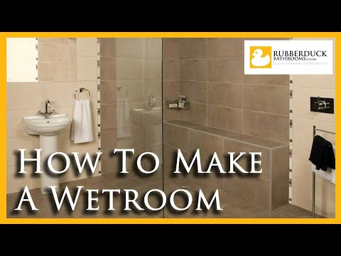 how to make a wet room shower room youtube