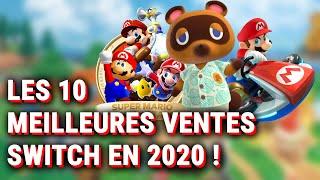 LES 10 MEILLEURES VENTES SUR NINTENDO SWITCH EN FRANCE EN 2020 ! (selon le S.E.L.L.)