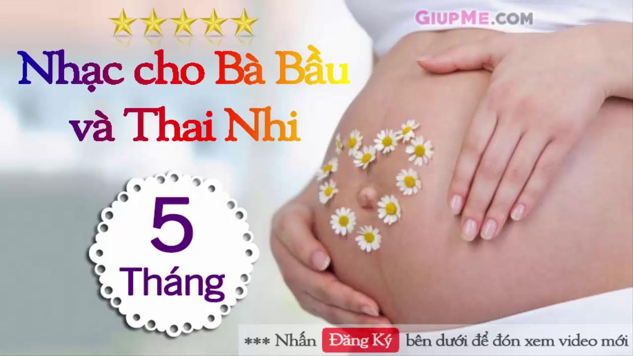 Nhạc cho Bà Bầu và Thai Nhi 5 tháng HAY NHẤT cho bé THÔNG MINH [GiupMe.com]