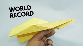 How to Make A Paper Airplane - BEST Paper Airplane in the World - Paper Airplane that FLY FAR