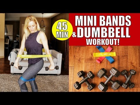 Dumbbell and Mini Band Workout | Fun New Miniband and Dumbell Exercises Included!