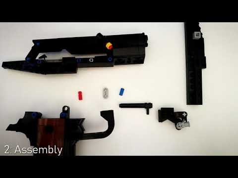 Working Lego M1911 Instructions Part 2 Internals Youtube