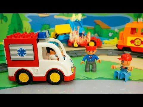 Пожарная машина у видео для детей Виновата игра. Игрушечные мультфильмы.