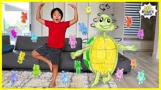 Ryan vs Giant Spinning Turtle Story Time for kids!!!