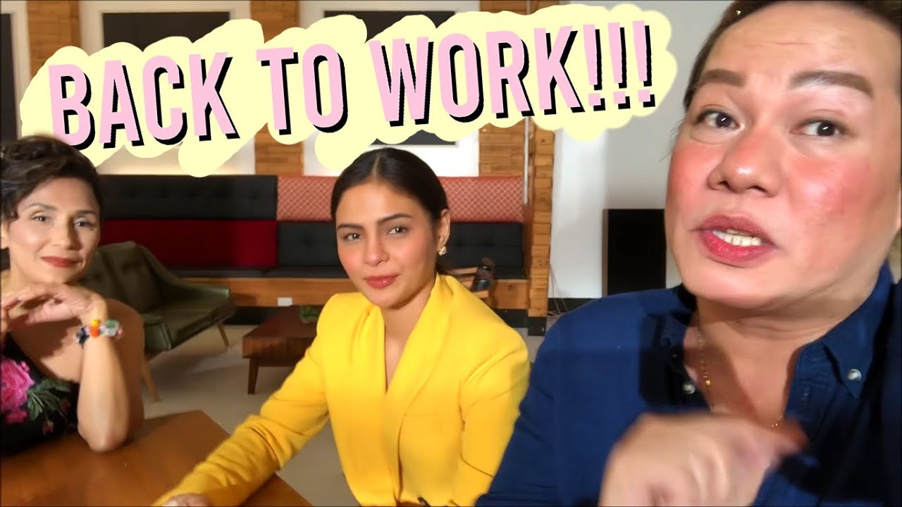 BACK TO WORK! MAY MGA CHINIKA SAKIN SI LOVI POE (TAPING PA MORE) | DIVINE TETAY
