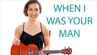 When I Was Your Man - Bruno Mars Ukulele Tutorial With Play Along