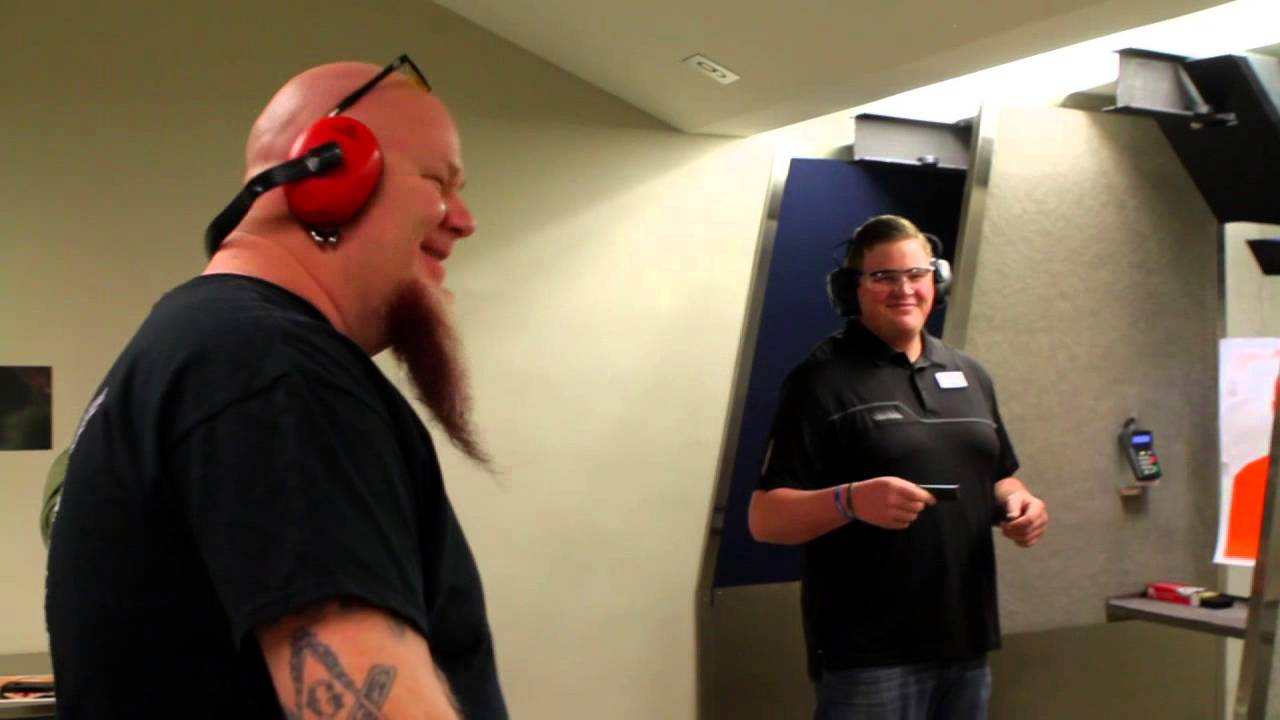 98 9 The Rock Celebrity Shooting At Centerfire Shooting Sports Youtube