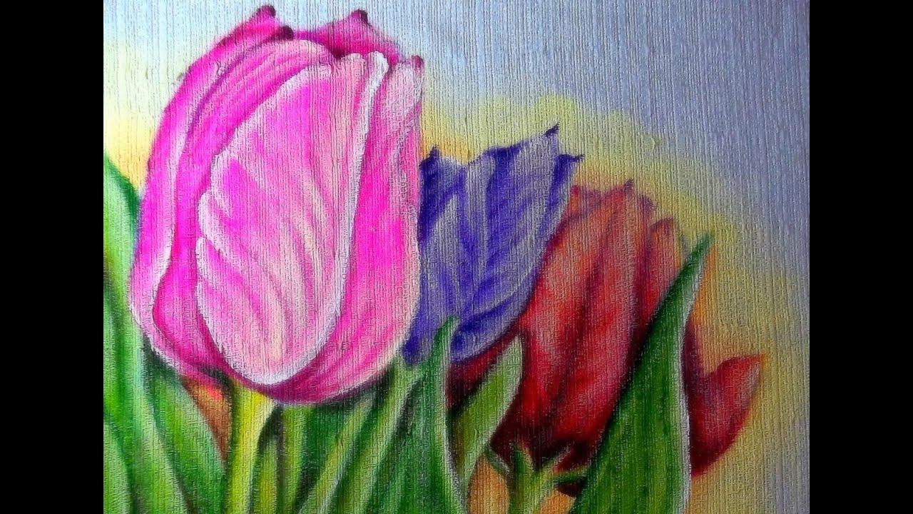 Pintando tulipas no tecido youtube - Tulipas para ventiladores de techo ...