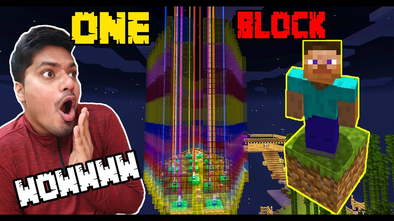 100 Beacon Towers in One Block   | minecraft Hindi