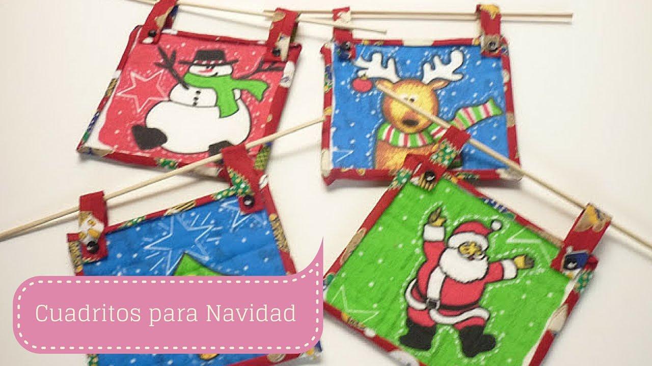 Manualidades para navidad cuadros en patchwork con for Cuadros de navidad