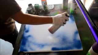 как рисуют светящейся краской