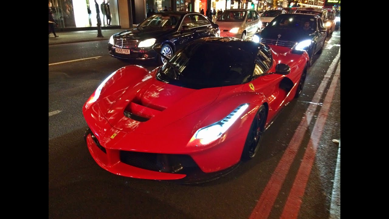 Arab Ferrari Laferrari In London Cruising And Start Up