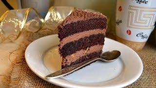 Шоколадный торт с шоколадным кремом|Chocolate cake with chocolate cream