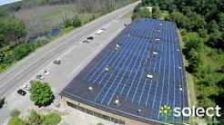 Solect Energy Solar Installation - Drone fly over