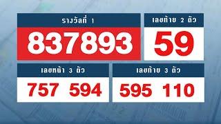 ตรวจหวย ตรวจผลสลากกินแบ่งรัฐบาล งวดวันที่ 1 ตุลาคม 2563
