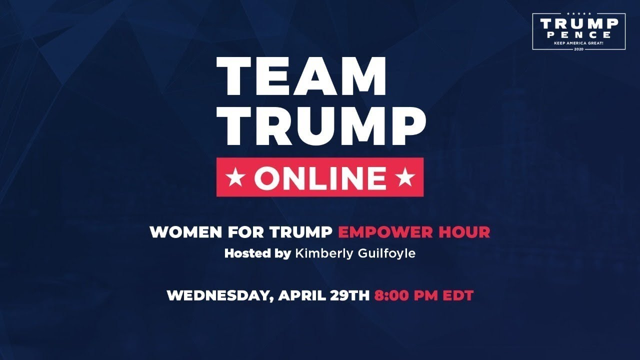 Live: Women for Trump Empower Hour with Kimberly Guilfoyle, Katrina Campins, and MORE!