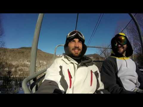 Ski Loon Mountain New Hampshire (USA 2017 Trip) GoPro