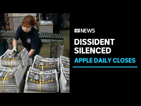 Hong Kong's pro-democracy newspaper Apple Daily prints its last edition | ABC News