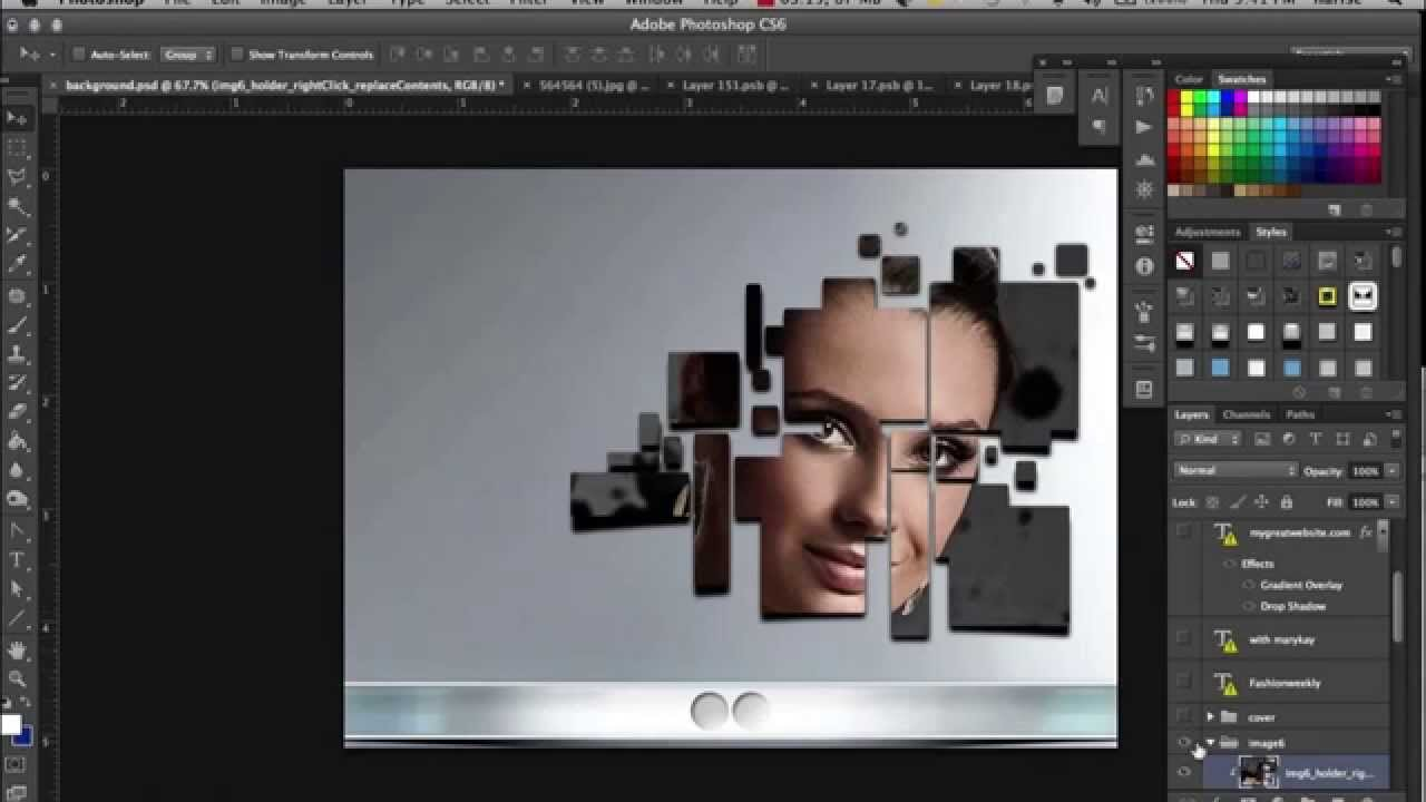 How To Make An Unique Fashion Brochure In Photoshop Fast YouTube - Fashion brochure templates