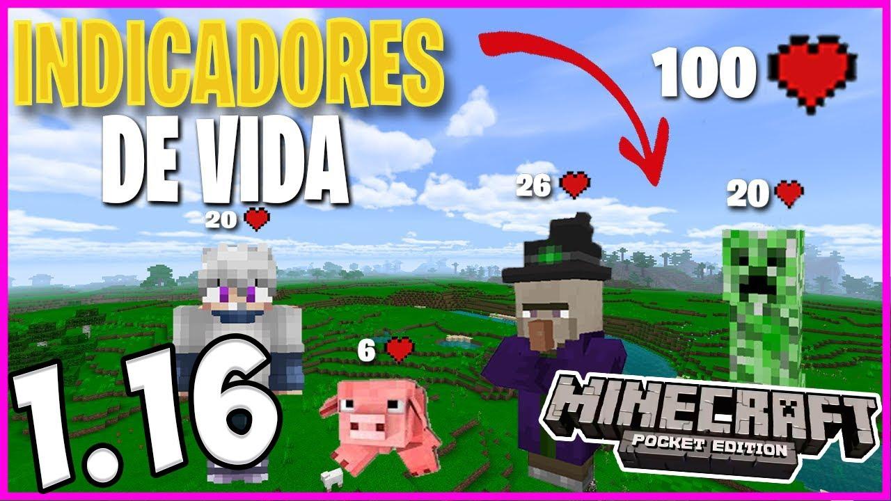 INDICADOR DE VIDA para Minecraft PE 1.16 OFICIAL ! DAMAGE INDICATOR MOD !